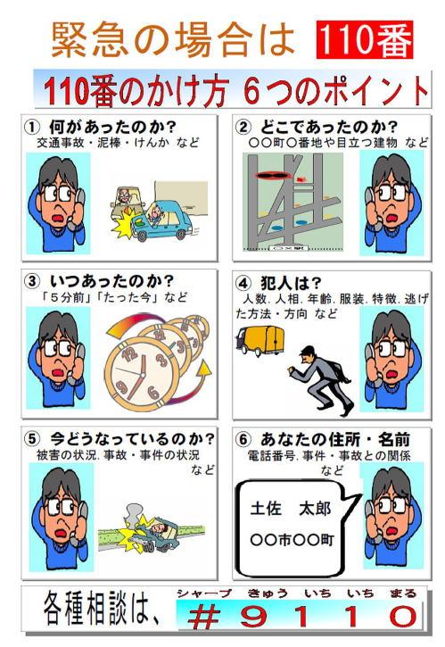 緊急の場合は110番~あなたと警察を結ぶホットライン | 高知県警察 ...