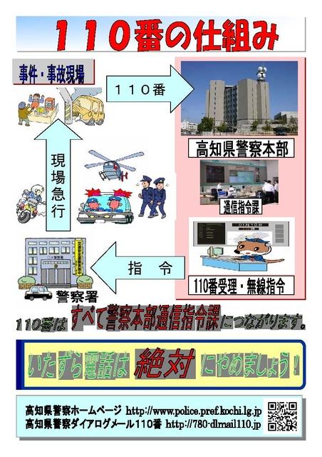 緊急の場合は110番~あなたと警察を結ぶホットライン   高知県警察 ...